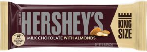 HERSHEY MILK CHOCOLATE W/ALMOND KING SIZE 2.6 OZ