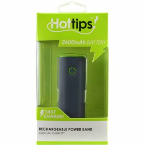 2600 MAH PORTABLE POWER BANK GREEN