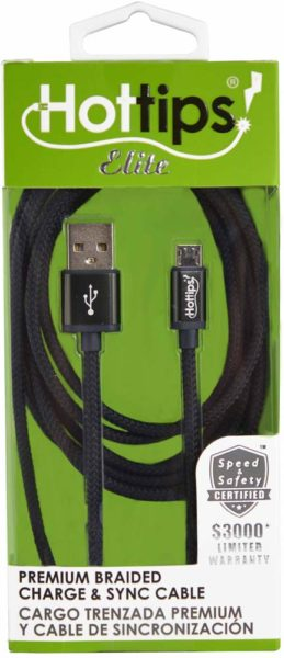 ELITE 6' MICRO USB BRAIDED CORD