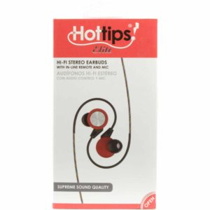 HIFI EAR BUD WITH MIC RED