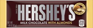 HERSHEY'S MILK CHOCOLATE W/ALMONDS 1.45 OZ
