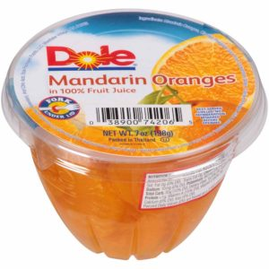 DOLE FRUIT BOWL MANDARIN ORANGE 7 OZ