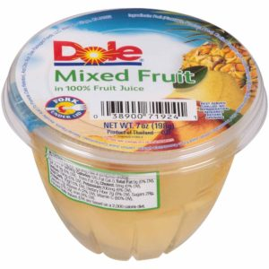 DOLE FRUIT BOWL MIXED FRUIT 7 OZ