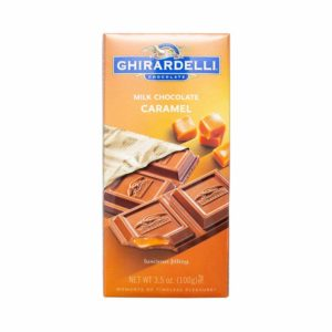 GHIRARDELLI MILK CHOCOLATE WITH CARAMEL BAR 3.5 OZ