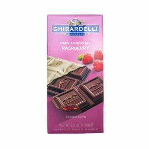 GHIRARDELLI DARK CHOCOLATE WITH RASPBERRY BAR 3.5 OZ
