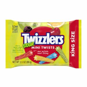TWIZZLER SOUR MINI TWISTS 3.5 OZ