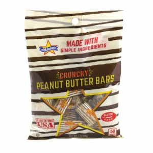 CRUNCHY PEANUT BUTTER BARS 3 OZ BAG