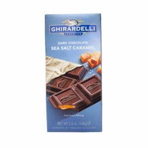 GHIRARDELLI DARK CHOCOLATE & SEA SALT CARAMEL 3.5 OZ