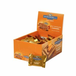 GHIRARDELLI MILK CHOCOLATE WITH CARAMEL CADDY .53 OZ