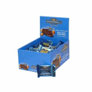 GHIRARDELLI DARK CHOCOLATE SEA SALT CARAMEL CADDY .53 OZ