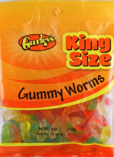 GUMMI WORMS 4 OZ