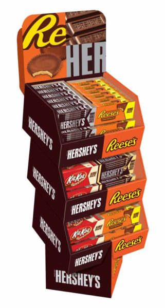 HERSHEY CORE KING SIZE SHIPPER DISPLAY