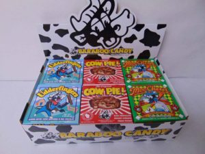 MIXED COW CANDY SHELF DISPLAY (COW PIE, UDDERFINGER, CHEWS)