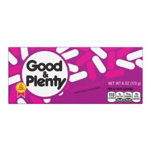 GOOD N PLENTY 6 OZ BOX