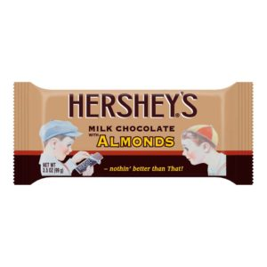 HERSHEY CHOCOLATE W/ALMONDS NOSTALGIA BAR 3.5 OZ