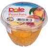 DOLE FRUIT BOWL SLICED PEACHES 7 OZ