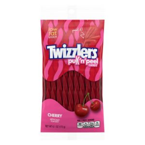 TWIZZLERS CHERRY PULL-N-PEEL 6.1 OZ PEG BAG