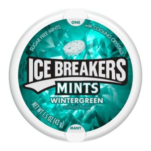 ICE BREAKERS WINTERGREEN MINTS 1.5 OZ TIN