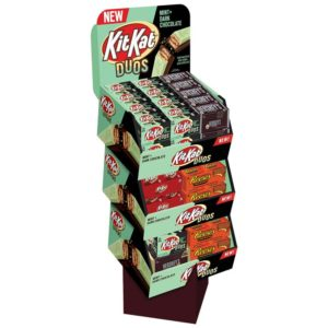 HERSHEY KIT KAT DUO AND ASSORTED BAR SHIPPER